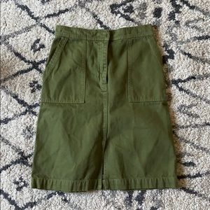 J. Crew olive green utility skirt size 0